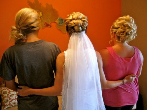 bride at salon salon