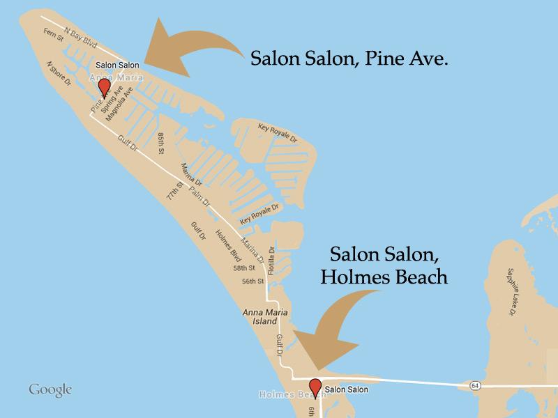 Holmes Beach Florida Map.Anna Maria Island Salon Spa Salon Salon Of Ami
